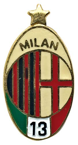 A.C. MILAN, distintivo ovale in ...